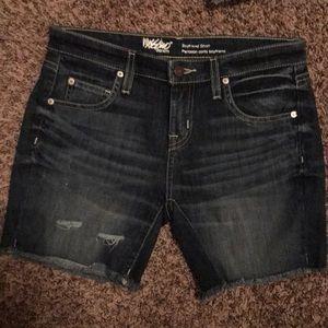 Pants - Jean boyfriend shorts